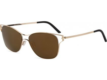 Minima Contour Sun K7-342A, Shiny Champagne (OP-Brown/Flash Gold Polarized)