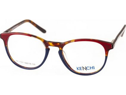 Kenchi 1721-C1 vínová/tm.modrá/havana