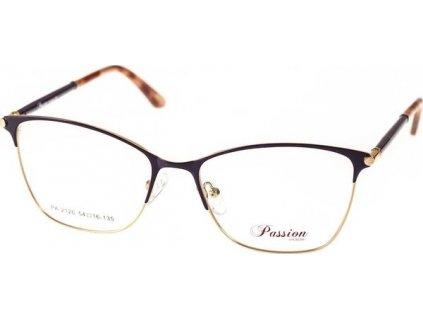 Passion 2120-C3 tm.fialová/zlatá