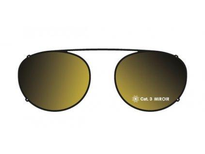 Details sluneční nácvak MOD 18 ST BGO, (černá/hnědozlaté zrcadlo)