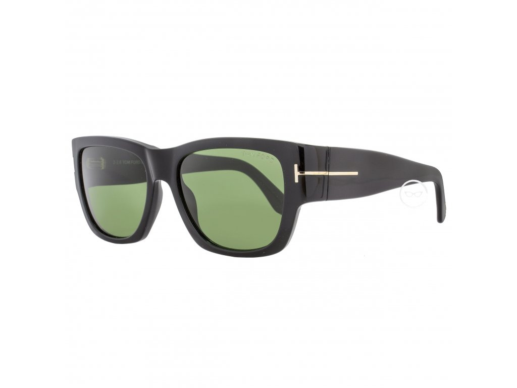 Tom Ford TF493 Stephen 01N Womens Shiny Black Gold Green Lens Sunglasses efe49f0a 431a 4871 b528 07a3f930e7bc (1)