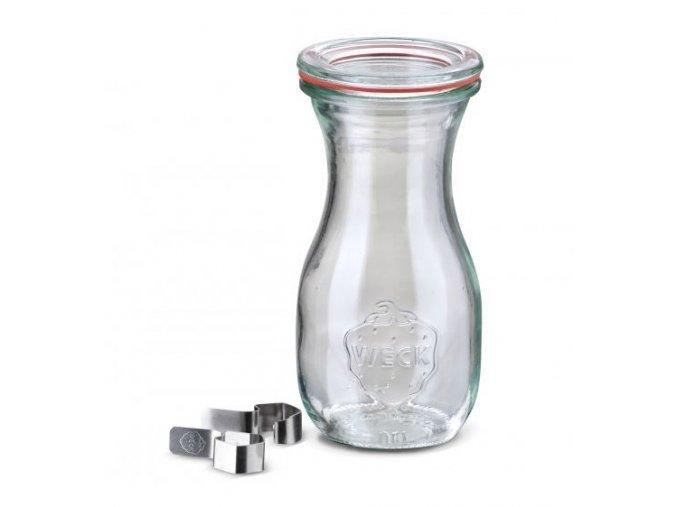 Láhev Saft WECK 290 ml - s víčkem, těsněním a klipsy