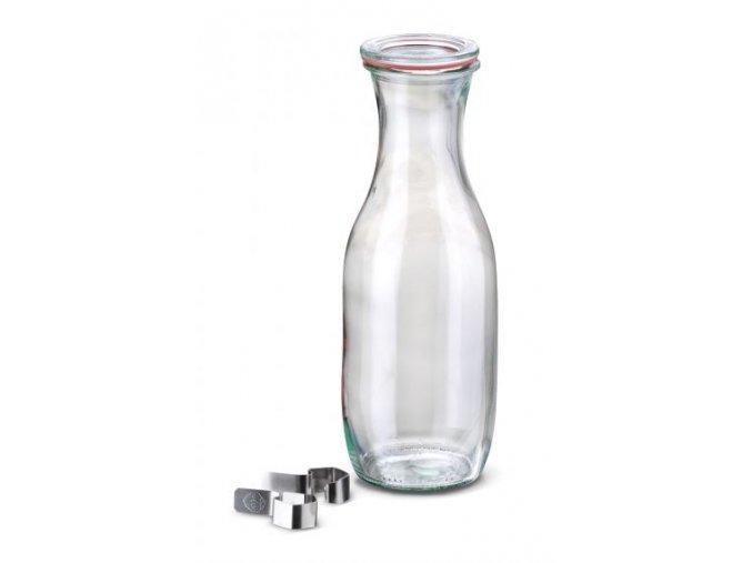 Láhev Saft WECK 1062 ml - láhev s výškem, těsnící gumou a klipsy