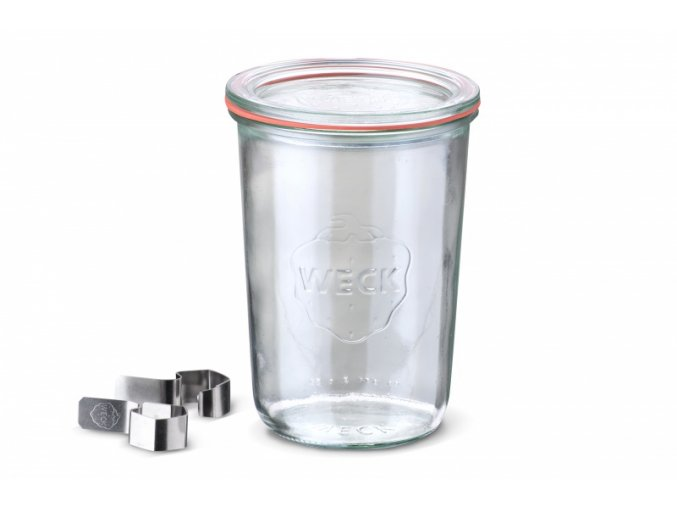 Zavařovací sklenice mini Classic WECK 160ml - včetně klipsu, těsnící gumičky a víčka