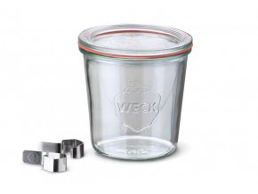Zavařovací sklenice Classic WECK 580ml - včetně klipsů, víčka a těsnící gumy