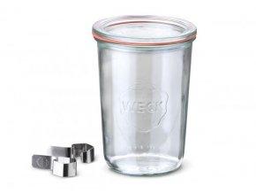 Zavařovací sklenice Classic WECK 850ml - kompletní s klipsy, těsnící gumou a víčkem