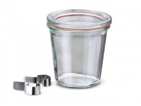 Zavařovací sklenice Classic WECK vysoká 290ml - komplet s víčkem, klipsy a těsnící gumou