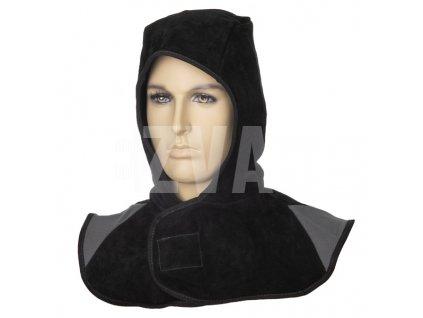 Kapucňa z čiernej delenej  hovädzej kože  Arc Knight®