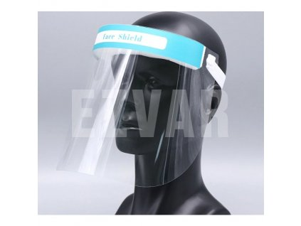 Ochranný plastový štít MZ-5 s penovou ochranou čela