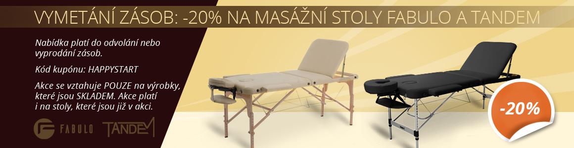 -20% na masážne stoly Fabulo a Tandem SKLADOM