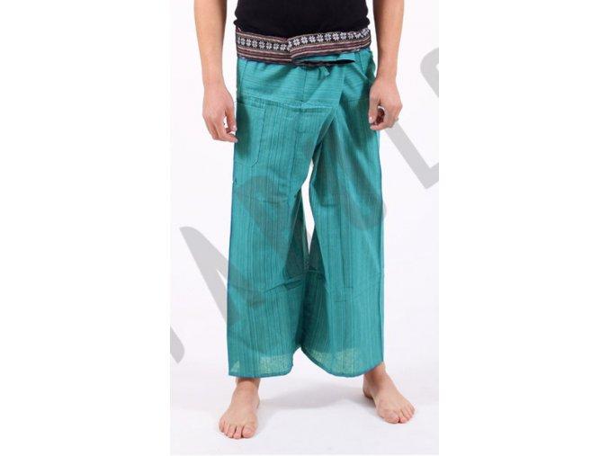 joga kalhoty na masaz fisherman svetlo zelena detail