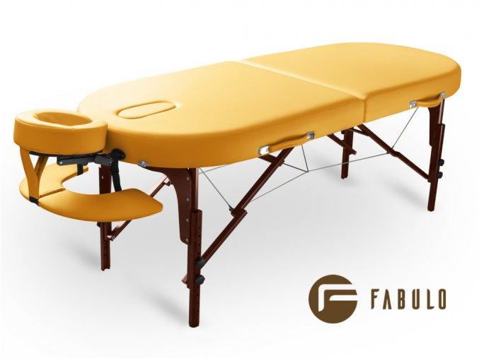 skladaci masazni lehatko fabulo diablo oval set zluta