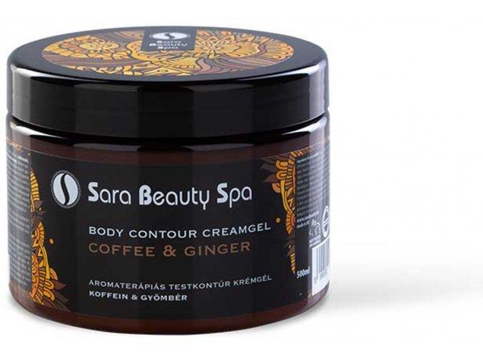 SBS228 masazni krem na formovani tela sara beauty spa kofein zazvor slimming creamgel coffein ginger 500ml sbs228