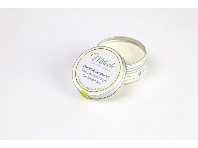 mirach prirodni deodorant s oxidem zinecnatym citronova trava 45ml