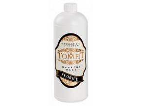 tomfit masazni olej mineralni skorice 1000 ml 13 0169