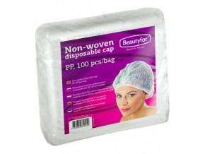 Jednorázová čepice z netkané textilie Beautyfor® (100 ks)