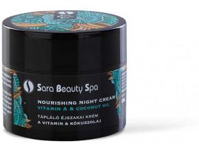 SBS266 vyzivujici nocni pletovy krem sara beauty spa vitamin a kokos 50ml