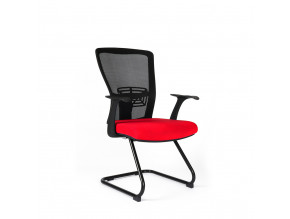 Ergonomická jednací židle OfficePro Themis Meeting červená