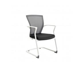 Ergonomická jednací židle OfficePro Merens White Meeting černá