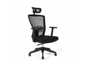 Ergonomická kancelářská židle s podhlavníkem OfficePro Themis SP černá