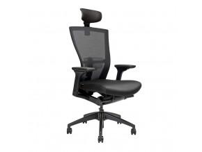 Ergonomická kancelářská židle s podhlavníkem OfficePro Merens SP černá