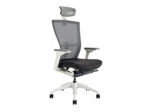 Ergonomická kancelářská židle s podhlavníkem OfficePro Merens White SP černá