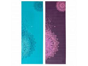 Podložka na jógu Bodhi LEELA Two Mandalas  183 x 60 cm, 4,5 mm, 1 kg