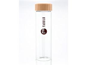 Fabulo sklenena lahev s drevenym uzaverem