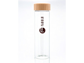 sklenena lahev fabulo s bambusovym uzaverem