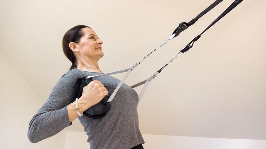 Posilovací systém závěsný TRX správné držení těla domácí trénink