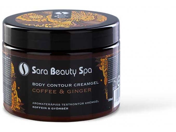 SBS228 karcsusito alakformalo masszazs krem sara beauty spa slimming creamgel coffein ginger 500ml