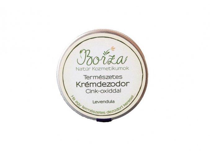 borza termeszetes dezodor cink oxiddal levendula