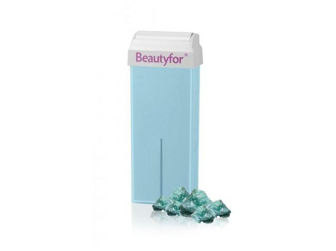 BEAUTYFOR® világoskék titanium talc szőrtelenítő gyanta talkummal 100 ml