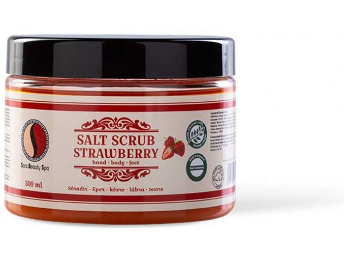 sbs219 peeling sara beauty spa salt scrub strawberry 500ml soradir epres