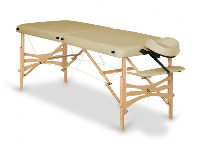 17 skladaci masazny stol dreveny buk tmavy habys panda vinyl 29 siva