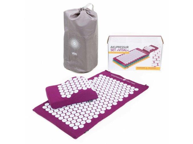 vital set akupresszuras matrac es parna padlizsan 1