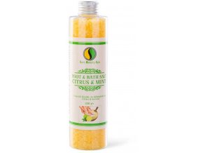 SBS200 frissito furdoso es labaztato so citrus sara beauty spa refreshing bath foot salt