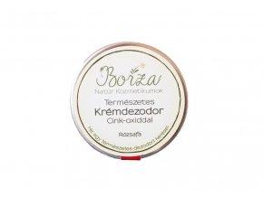 borza termeszetes dezodor cink oxiddal rozsafa