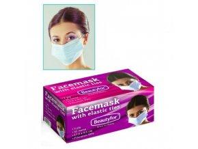Beautyfor® háromrétegű nemszőtt textíliából készült kozmetikai szájmaszk (50 db) 1