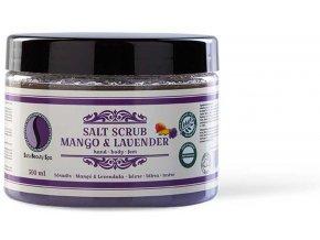 SBS220 peeling sara beauty spa salt scrub mango lavender 500ml soradir mango levendula