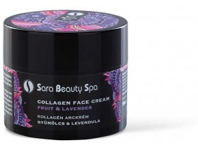 sara beauty spa kollagen arckrem gyumolcs levendula 50ml sbs269