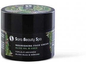 sara beauty spa taplalo arckrem olivaolaj kokusz 50ml sbs270