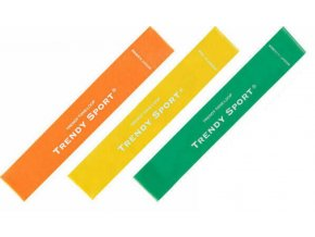 Trendy Tone-Loop Soft Set alacsony ellenallasu fitness gumiszalag szett 3 darab