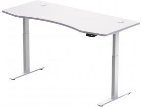 Hi5  elektromosan állítható magasságú asztalváz - 2 szegmensű, memóriavezérlővel - feher vazzal, feher asztallappal 1