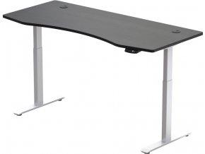 Hi5  elektromosan állítható magasságú asztalváz - 2 szegmensű, memóriavezérlővel - feher vazzal, fekete asztallappal 1