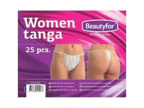 beautyfor egyszerhasznalatos tanga feher 25 darab
