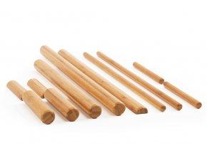 masszazs bambusz rudak fabol keszlet 11 db