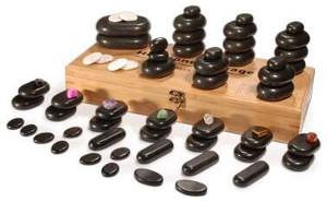 Lávové kamene masážne