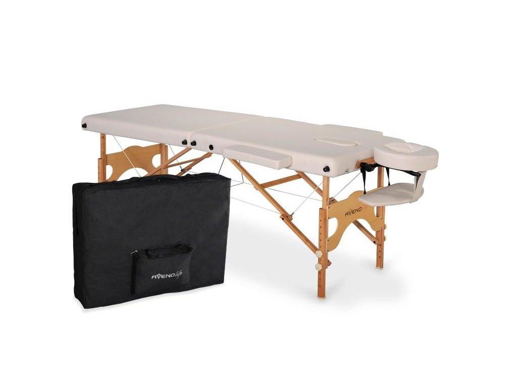 skladaci masázny stol dreveny aveno life aura bezova