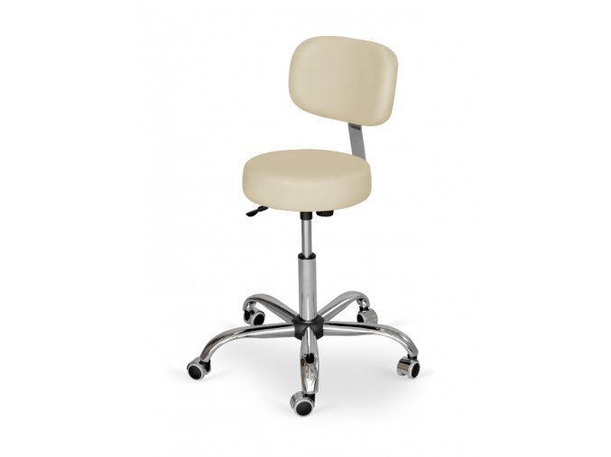 Kozmetická stolička s operadlom HABYS® Stella Pro  6 farieb